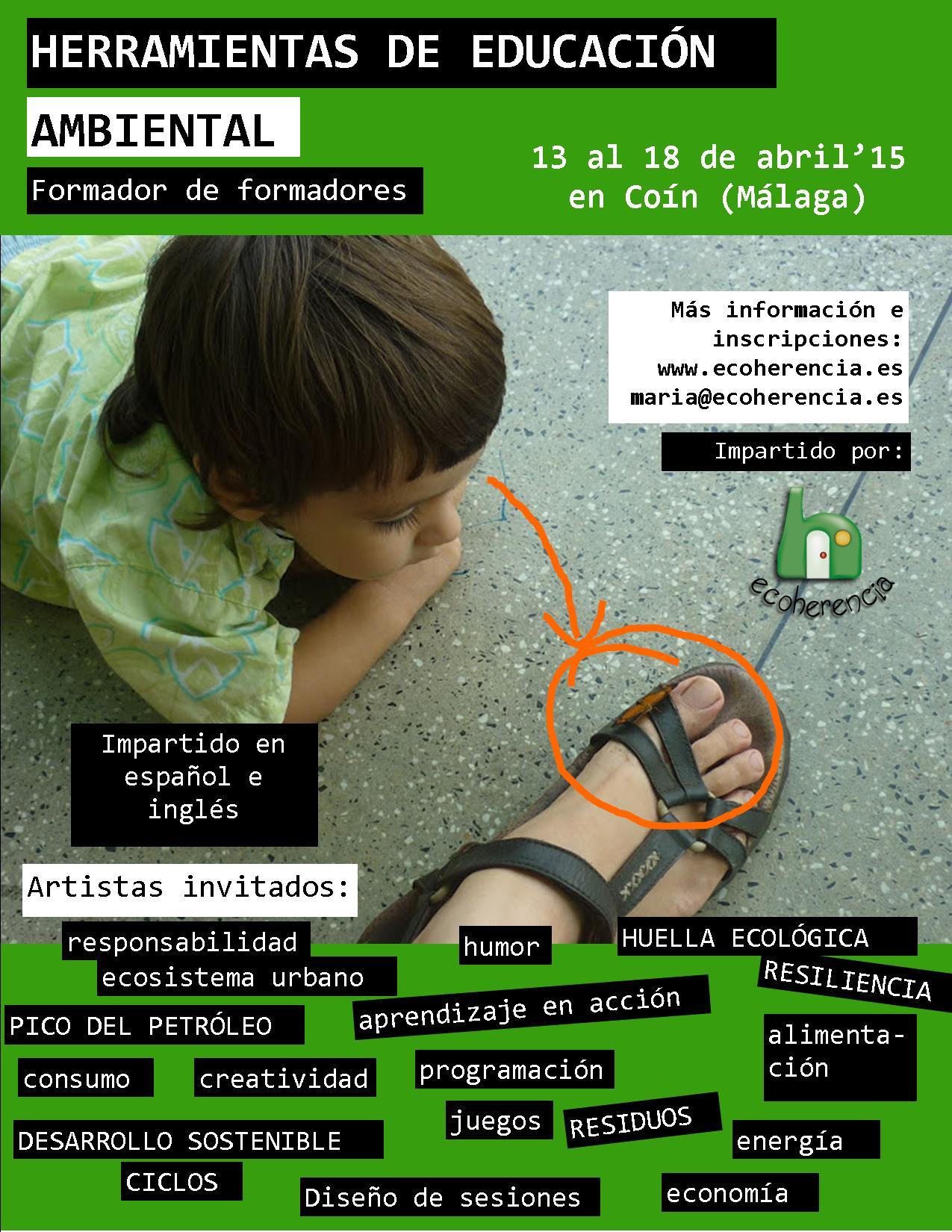 Herramientas de Educación Ambiental (Formador de Formadores – Ecoherencia – Coín (Málaga)