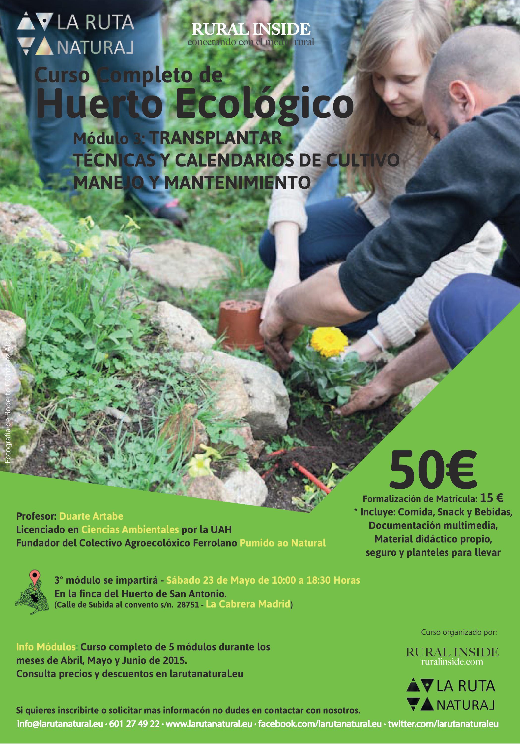 Curso Completo Diseño y Cultivo Huerto Ecológico – Módulo III – Manejo Eficiente del Huerto