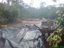 protegiendo los adobes de la lluvia y el sol. Foto cedida por CasadeBarro Arraial D'Ajuda