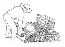 forma correcta de almacenar los adobes una vez curados