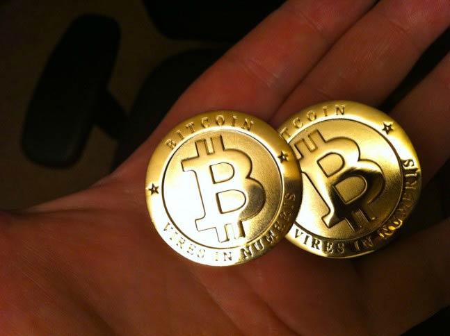 Bitcoins físicas (moneda fuera del sistema) por Zach Copley