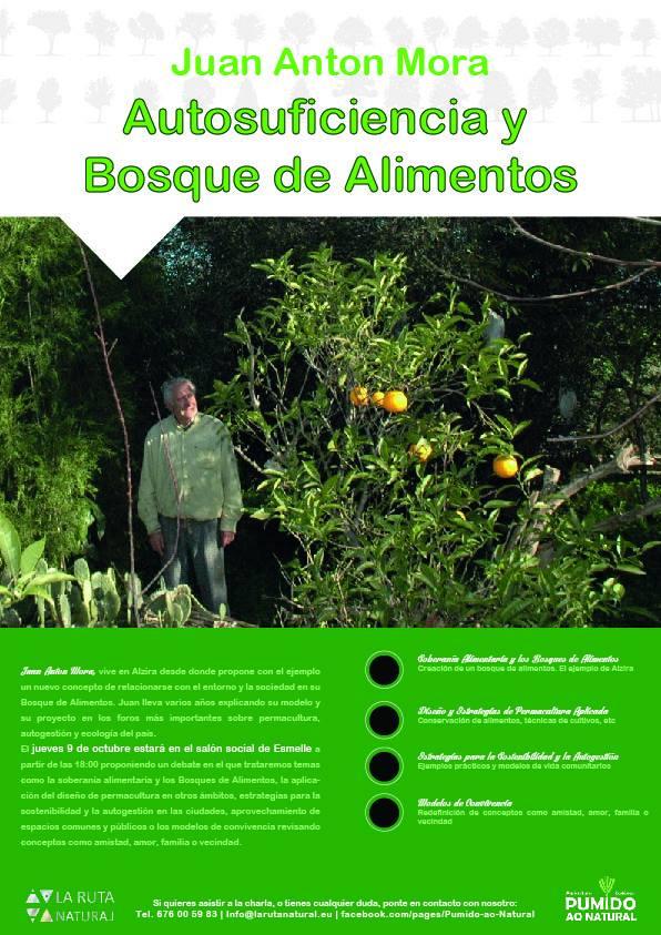 Cartel del próximo Evento, organizado por Larutanatural, donde participará Juan Antón