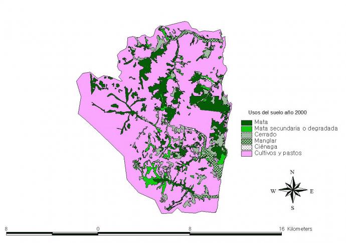 Mapa 3 (usos del suelo año 2000 elaboración propia).